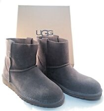 UGG Australia Classic Unlined Mini Perf Mole Grey Suede Boots 1016852 NEW Shoes