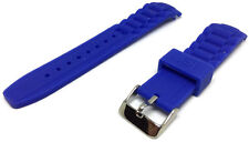 Authentic Ice Watch Strap Blue Size 17mm to 22mm with Stainless Steel Buckle