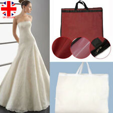 """72"""" Breathable Showerproof Hanging Wedding Dress Gown Garment Storage Cover inUK"""