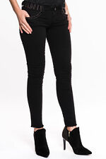 Liu Jo - Bottom up Divine Damen Jeans schwarz Strass Fransen Designer