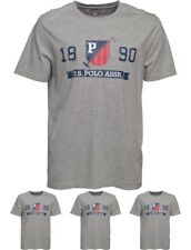 BRAND U.S. POLO ASSN. Mens Deer T-Shirt Grey Marl Small Chest 36-38""