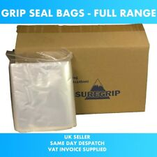 Grip Seal Bags GRIPSEAL Resealable Clear Plastic ZIP LOCK Polythene bag Cheapest