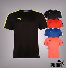 Mens Puma Logo Print Ventilation Panels Evo Training Short Sleeves T Shirt Top
