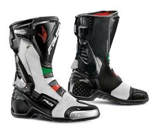 NEW FALCO ESO LX 2.1 RACE SPORTS  MOTORCYCLE BOOT WHITE RED GREEN