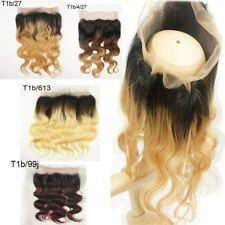 ALL OMBRE BRAZILIAN LACE 360+BUNDLE VIRGIN HUMAN HAIR BODY WAVE 420g 8A FASTSHIP