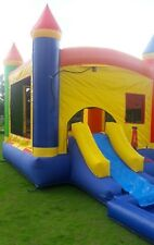 Inflatable Bounce House Wet Dry Slide Combo 100% PVC Vinyl with Pool & Blower