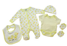 Rock A Bye Baby Baby Boys Girls 5 Piece Little Ducks Layette starter Gift Set