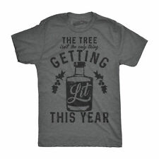 Mens The Tree Isnt The Only Thing Getting Lit This Year Tshirt Funny Christmas D