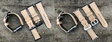 Brown Leather Watch Wrist Strap Replacement Band for Apple Watch 1 2 3 38/42mm