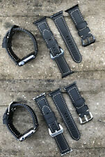 QUALITY BLACK BULL Leather Watch Strap Replacement Band for Apple Watch 38/42mm