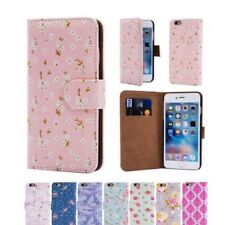Cuero Artificial Diseño Floral Funda Tipo Cartera Funda para Apple iPhone 6 & 6s