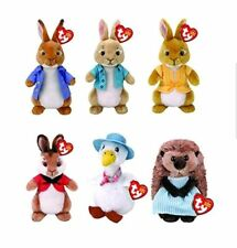 Ty Peter Rabbit Plush 2018 Range - Brand New - Peter Rabbit & Friends