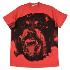 100% Auth NEW Givenchy Rottweiler Distressed Red Columbian Oversized T Shirt