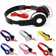 HOT Plegable Auriculares estéreo Potente Bajos profundos 3.5mm 7 COLORES