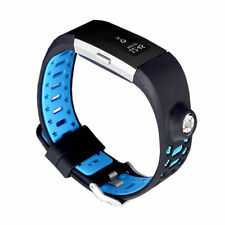 Sport Silicone Leather Replacement Wristband Watch Band Strap Fitbit Charge 2