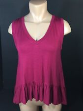 Womens Living Doll Shirt Top Blouse Size Med & LG Summer Tank Style Clr Wine NEW