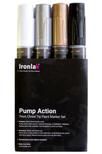 Ironlak Pump Action Paint Marker Set [7mm Chisel Tip]