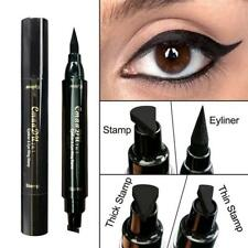 Thin Thick Stamp Eyeliner Pen Double Head Black Stamps Kitten Eyeliner Tools BC