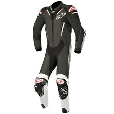 ALPINESTARS ATEM V3 1 PIECE LEATHER MOTORBIKE MOTORCYCLE SUIT BLACK WHITE