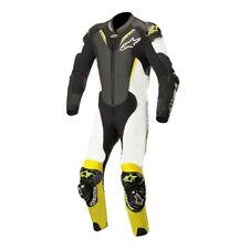 ALPINESTARS ATEM V3 1 PIECE LEATHER MOTORBIKE MOTORCYCLE SUIT BLACK WHITE YELLOW