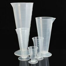 25ML TO 500ML PLASTIC GRADUATED MEASURING CYLINDER TUBE WITH ROUND BASE AND