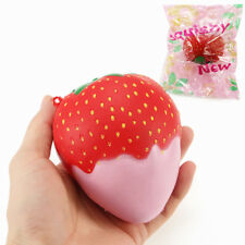 YUNXIN SQUISHY STRAWBERRY WITH JAM JUMBO 10CM SOFT SLOW RISING WITH PACKAGING