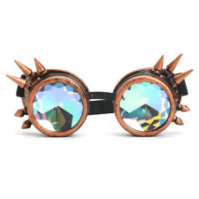 3 COLORS FESTIVALS RAVE KALEIDOSCOPE GOGGLES RAINBOW GLASSES PRISM DIFFRACTION
