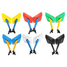 8MM THREAD UNIVERSAL MOTORCYCLE REAR VIEW REAR VIEW SIDE MIRRORS 8 COLORS