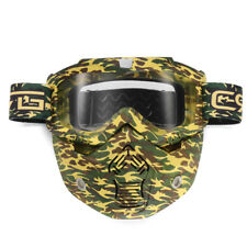 DETACHABLE MODULAR MASK SHIELD GOGGLES FULL FACE RIDING FOR MOTORCYCLE HELMET
