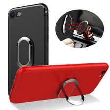 BAKEEY 360 ADJUSTABLE METAL RING KICKSTAND MAGNETIC FROSTED SOFT TPU CASE FOR
