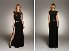 BNWT HONOR GOLD Lace New £75 Side Split Celebrity Party Long Gown Maxi Dress