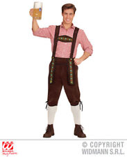 Mens Bavarian Lederhosen Fancy Dress Costume Oktoberfest German Outfit