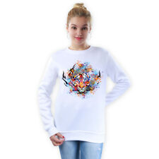 EG _ Cool tigre tête femme pull hiver chaud haut manches longues Pull-over Witty