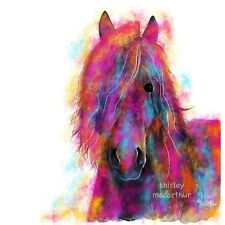 HORSE PRINTS WaLL ART of Original Painting 'FRieSian WiLD' by SHIRLEY MacARTHuR