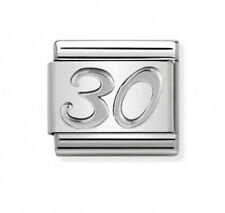 Nomination Italy Nominations Silver Occasion 30 Birthday Anniversary Charm Tool