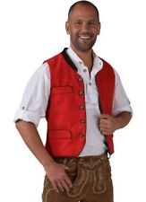 Gilet traditionnel Alois Rouge NEUF