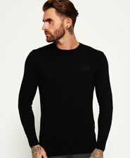 New Mens Superdry Orange Label Crew Neck Jumper Black