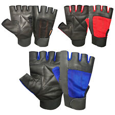 Padded Leather Gloves Weight Training GYM Fitness Body Building Cycling gloves