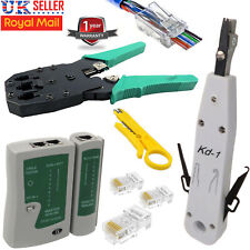 RJ45 Network Kit Cat5e Lan Cable Tester Punch Crimping Tool Ethernet Connector