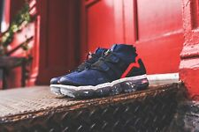 NIKE AIR VAPORMAX FLYKNIT UTILITY COLLEGE NAVY, BLACK & RED TRAINERS ALL SIZES