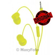 NOKIA AURICOLARE ORIGINALE STEREO CUFFIE IN-EAR WH-208 YELLOW MICROSOFT 2015