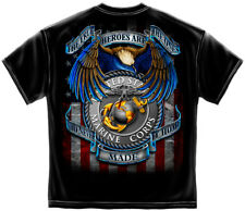 Marine Corps, USMC T-Shirt True Hero Marines Black