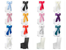 Luxury Satin Chair Ties Wedding Party Craft Sashes Table Runners Bows 23cm x 3m