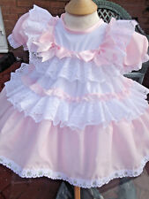 DREAM 0-4 years BABY GIRLS FRILLY  LINED NETTED DRESS  0r REBORN DOLLS