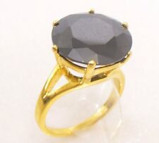 fashion1uk Anillo Solitario Diamante Sintético 24k chapado en oro L M N