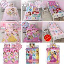 Disney Princess Sets Housse de couette LITERIE – Simple, double & tailles Junior