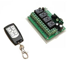 4 Channel Wireless Remote Control Switch Transmitter Receiver 12V 10A 433MHz