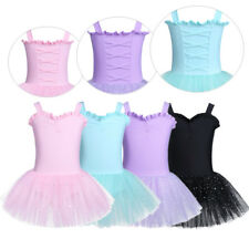 Girls Ballet Dancing Dress Kids Gymnastic Skating Dancewear Leotard Tutu Costume