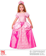 Girls Kids Childs Pink Princess Fancy Dress Costume Fairy Tale Outfit 4-13 Yrs