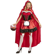 Womens Ladies Red Riding Hood Fancy Dress Costume Fairy Tale Outfit Adult